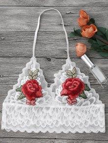 Sheer Lace Floral Longline Bralette Top