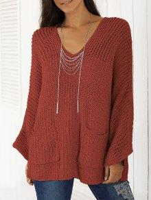 V Neck Chunky Sweater