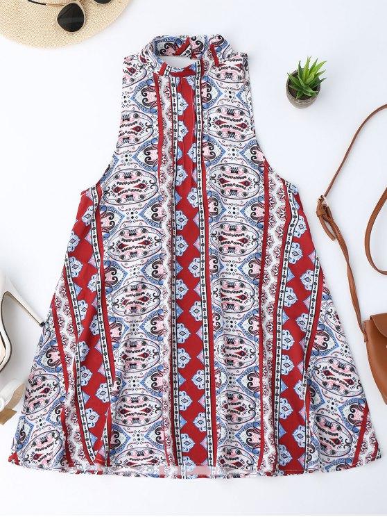 فستان عاري الذراعين المطبوعة - Colormix S