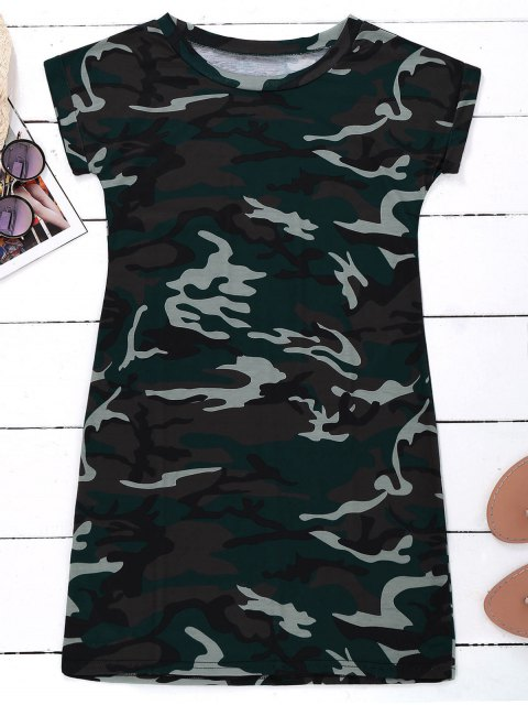 latest Camo T-Shirt Dress - CAMOUFLAGE XL Mobile