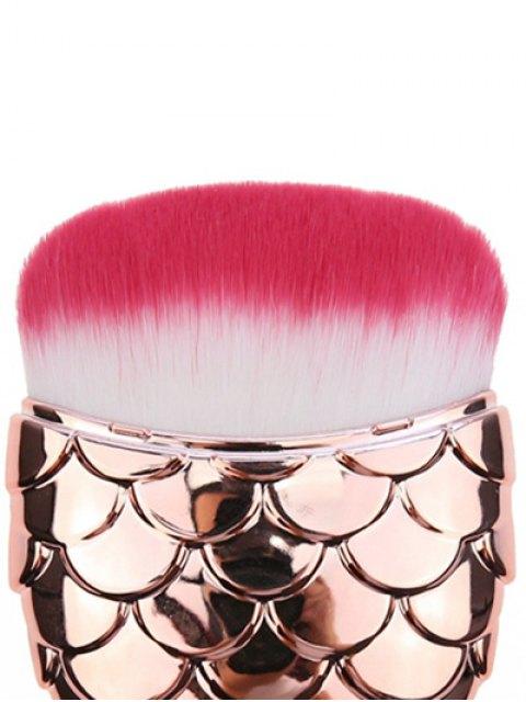 fancy Cambered Hair Mermaid Shape Facial Makeup Brush - ROSE GOLD  Mobile