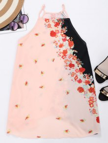 Cami Armhole Floral Color Block Beach Dress