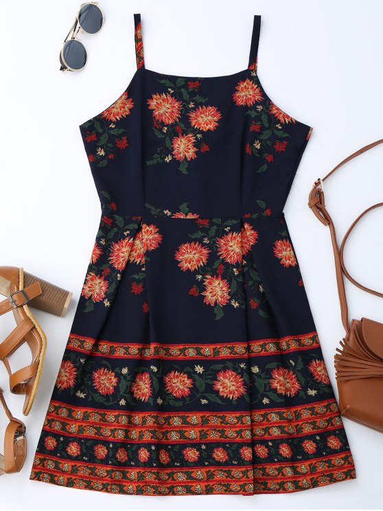 online Cami Floral Summer Dress - COLORMIX S