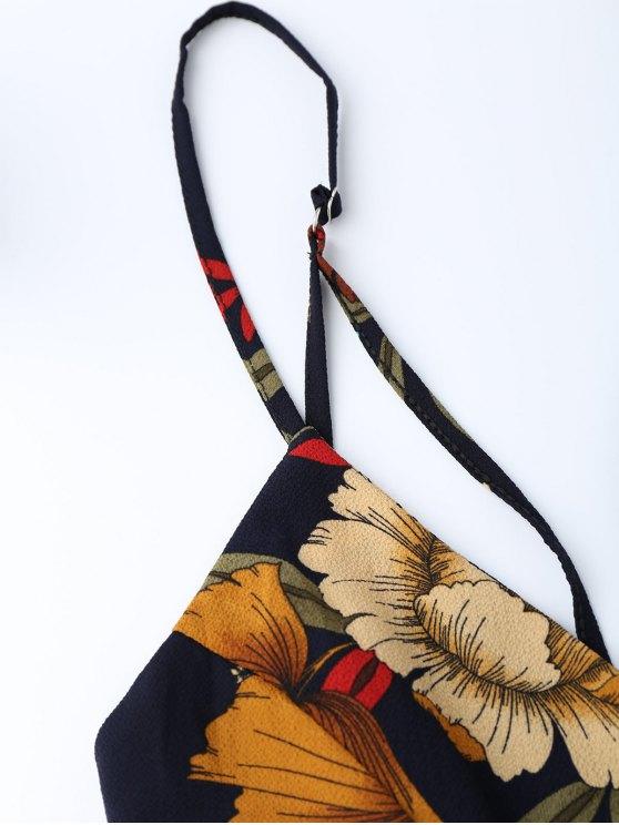 Floral Criss Cross Romper - FLORAL XL Mobile