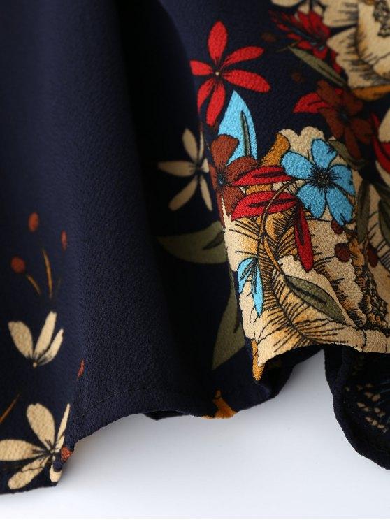 Floral Criss Cross Romper - FLORAL S Mobile