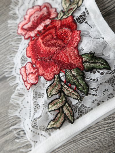 Floral Applique Keyhole Lace Bra от Zaful.com INT