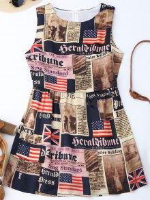 Sin mangas bandera americana vestido patriótico