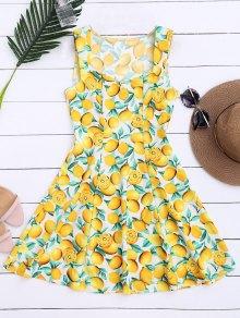 Vestido sin mangas con estampado de limón