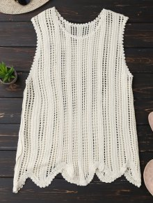 Scalloped Crochet Tank Top