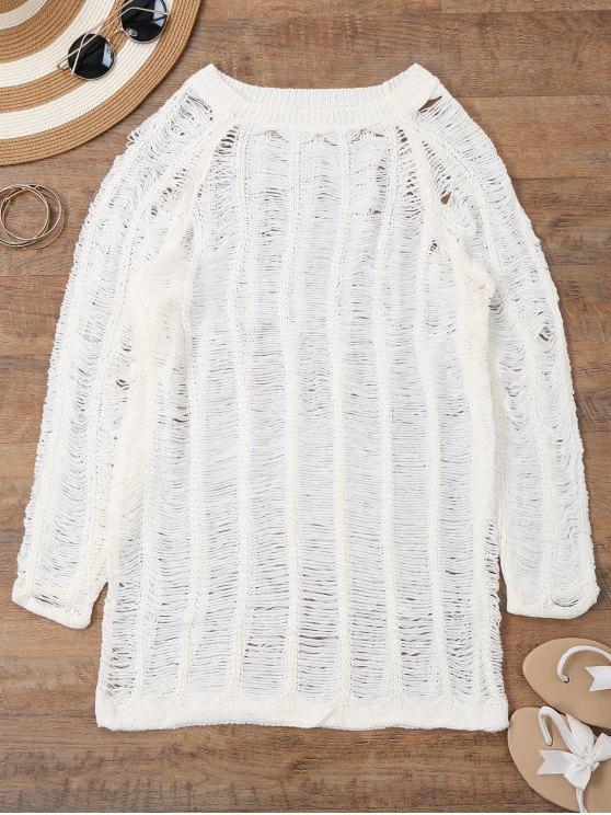 Robe de survêtement à manches longues - Blanc S