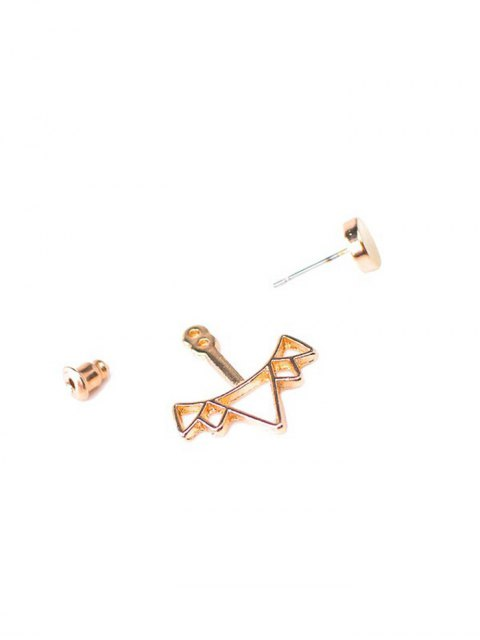 fashion Round Triangle Alloy Ear Jackets - GOLDEN  Mobile