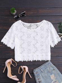 Oversized Lace Top