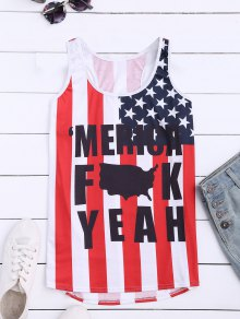 American Flag Racerback Tank Top - Xl