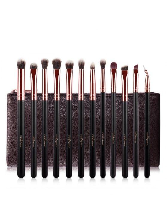 pinceaux de maquillage Kit Poils de chèvre yeux - Or Rose
