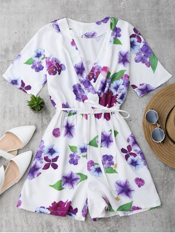 Surplus floral - Blanc L