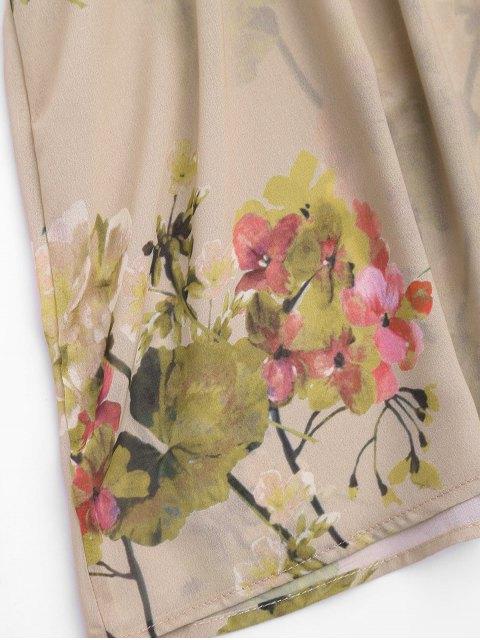 buy Floral Ruffles Chiffon Tank Top - FLORAL M Mobile
