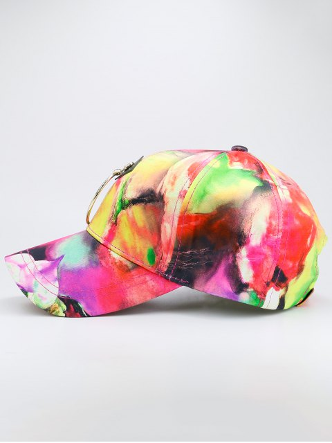 fancy Metal Circle Digital Inkjet Floral Baseball Hat - TUTTI FRUTTI  Mobile