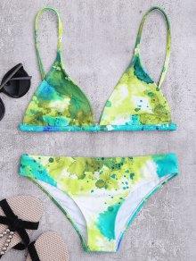 Cami Slash Imprimir conjunto de bikini