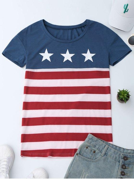 Camiseta patriótica de la bandera americana del cu - Colormix XL