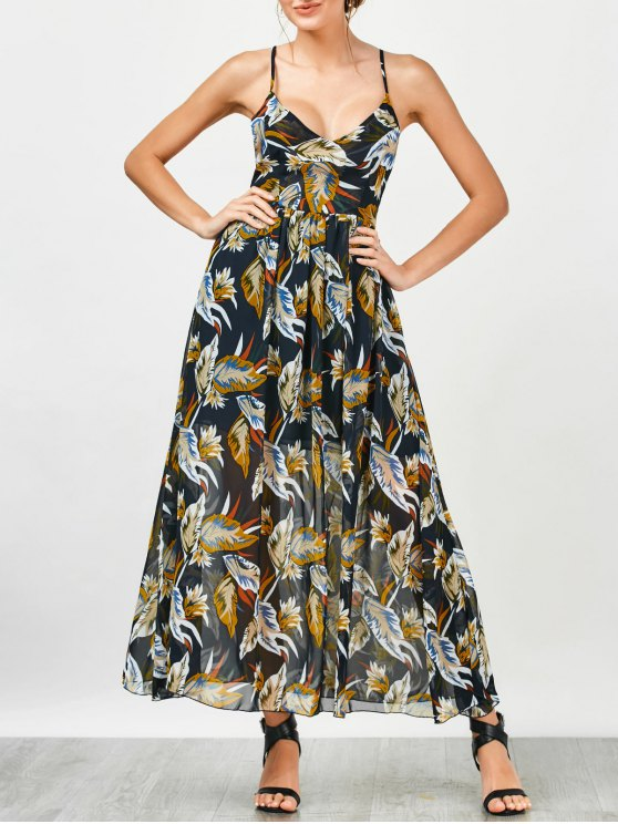 shop Criss Cross Floral Beach Maxi Dress - FLORAL M