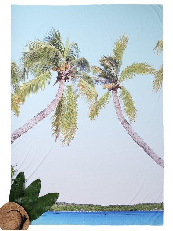 Rectangle d'impression tropicale Beach Throw - Bleu TAILLE MOYENNE