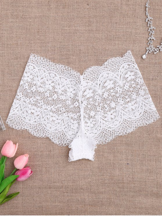 Culottes en dentelle en crochet - Blanc M