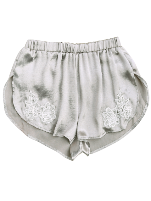 hot Applique Satin Dolphin Sleep Shorts - FROST S Mobile