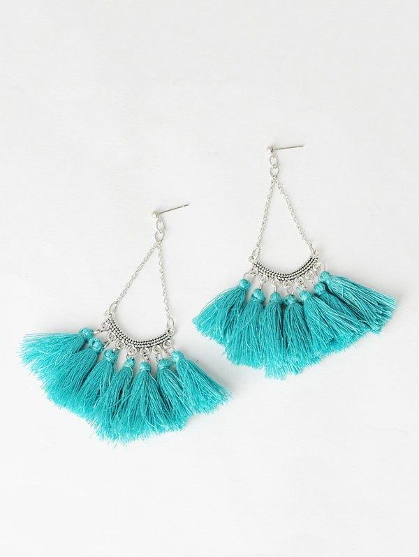 Fan-Shaped Tassel Chain Earrings