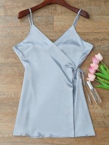 كامي التفاف زلة اللباس - ازرق رمادي Xl