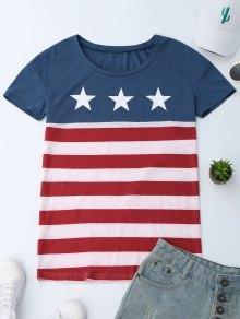 Camiseta patriótica de la bandera americana del cu