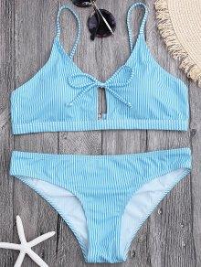 Cami Straps Padded Stripe Bikini