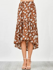 Ruffles Asymmetrical Beach Midi Skirt