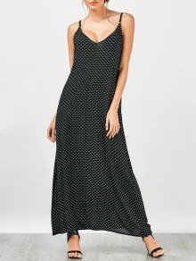 Heart Print Maxi Slip Dress