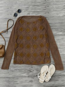 Suede Panel Crochet Cover Up
