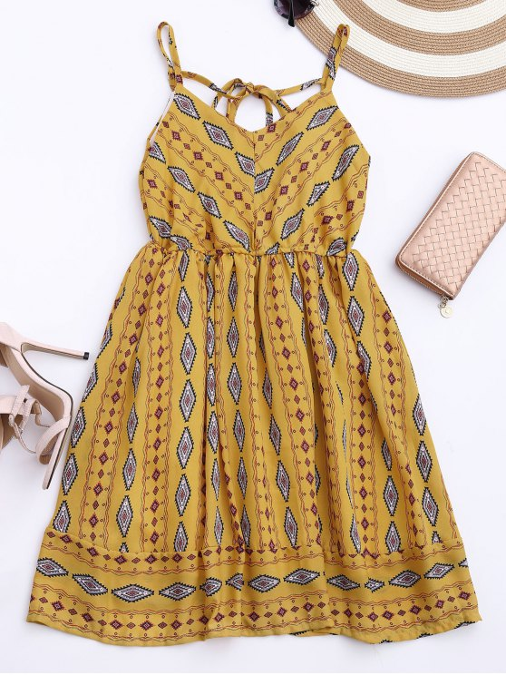 outfit Argly Cami Chiffon Sundress - YELLOW ONE SIZE