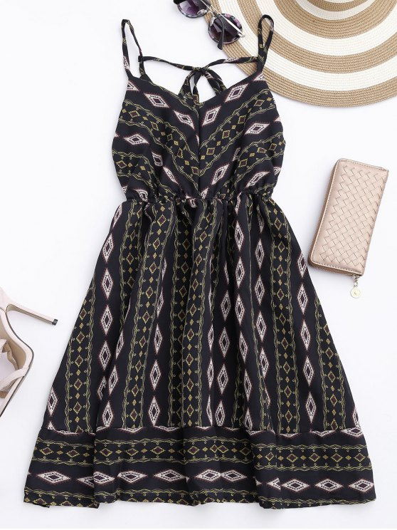 outfits Argly Cami Chiffon Sundress - BLACK ONE SIZE