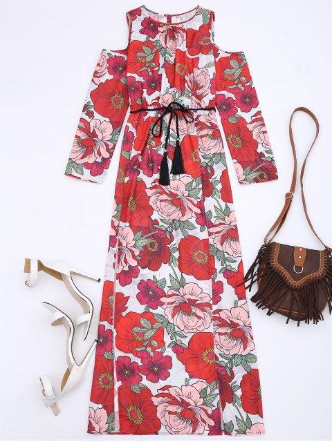 Robe maxi d'épaule froid floral - Floral S Mobile
