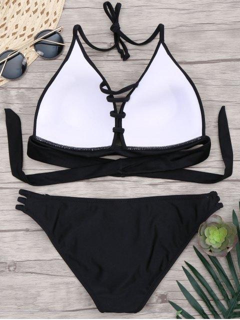 new Fuller Bust Molded Cup Bikini Set - BLACK XL Mobile
