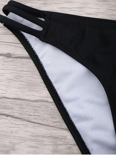 hot Fuller Bust Molded Cup Bikini Set - BLACK L Mobile