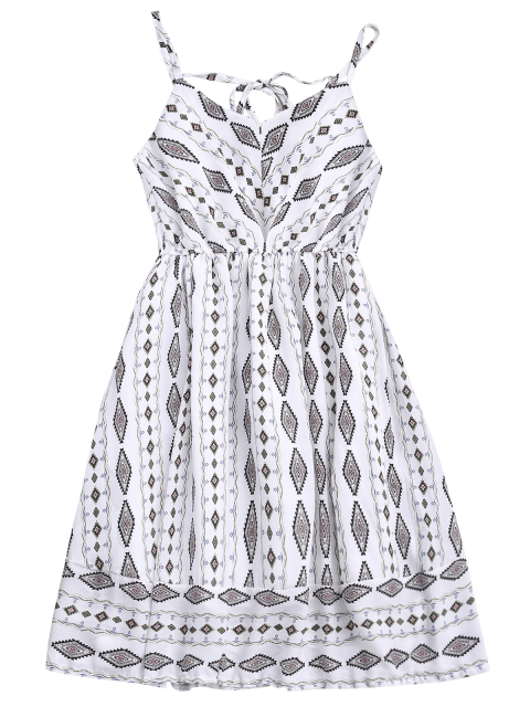 latest Argly Cami Chiffon Sundress - WHITE ONE SIZE Mobile