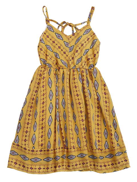 outfit Argly Cami Chiffon Sundress - YELLOW ONE SIZE Mobile