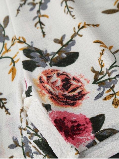 shop Cami Floral Plunge Romper - FLORAL S Mobile