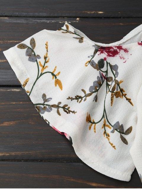 trendy Cami Floral Plunge Romper - FLORAL XL Mobile