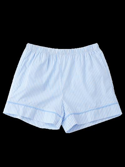 Elastic Waist Pockets Striped Shorts от Zaful.com INT