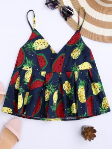 Cami Watermelon Imperio Cintura Tank Top