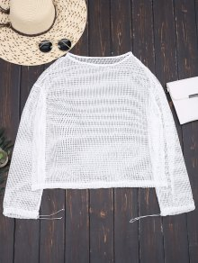 Laser Cut Long Sleeve Top