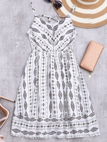 Argyle Cami Chiffon Sundress - White