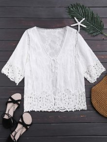 Open Front Lace Beach Top