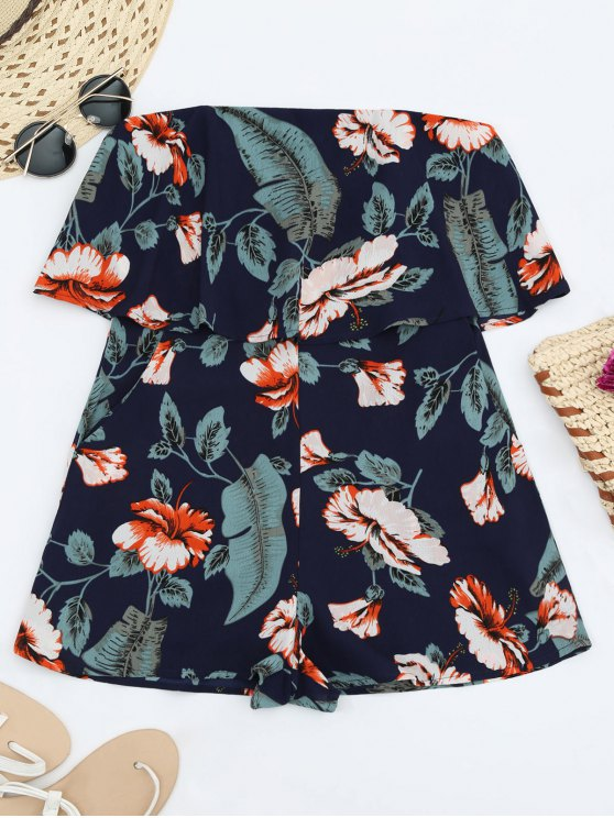 Robe de plage florale sans bretelles - Multi S