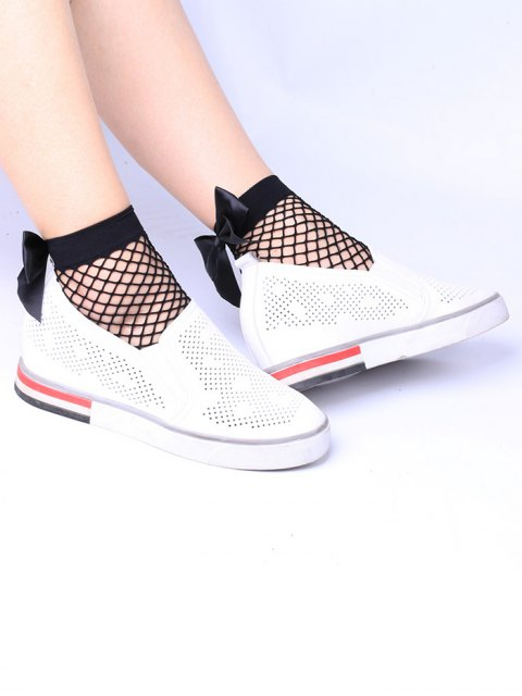 Fishknot Fishnet Embellished Anklet Socks - Noir  Mobile